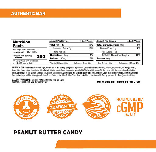 Screenshot_2021-03-09 Amazon com Authentic Bar Peanut Butter Candy Protein Bars - Tasty Meal Replacement Energy Bars w 15g ...