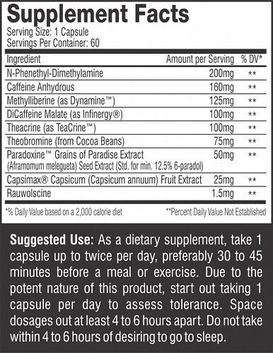 THERMAGIZE XT Supp Facts & Directions