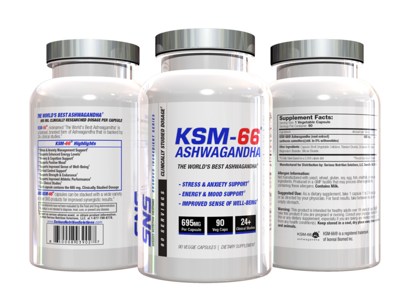 SNS KSM-66 - 695 mg  - 90 Vcaps New Product Release