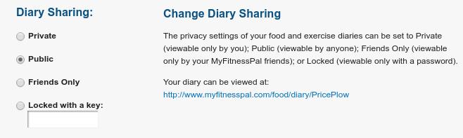myfitnesspal-public-diary-settings